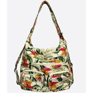 LUG Zipliner Lily Sand Convertible Tote Backpack